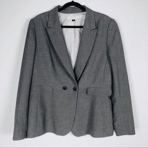Tahari Gray Blazer Size 18